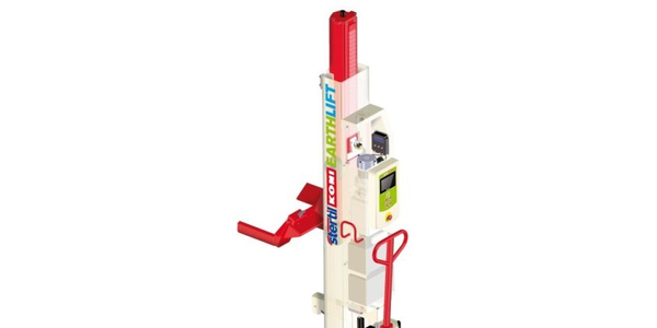 The ebright Smart Control System is pictured here on an Earthlift mobile column lift. Photo...
