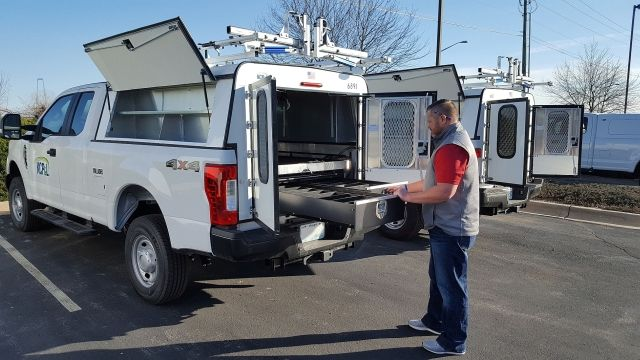 Available for 5 1/2-foot, 6 1/2-foot and 8-foot full size truck beds as well as 5- and 6-foot compact truck beds, the StorMaster is a convenient storage solution.(Photo courtesy of LTA Manufacturing) -