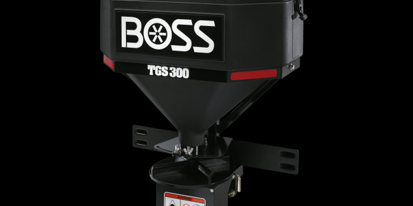 The TGS 300 is the smallest tailgate spreader offered by Boss. Photo courtesy of Boss