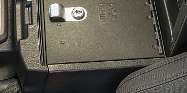 Image of Toyota Tacoma Security Console courtesy of Tuffy Security Products