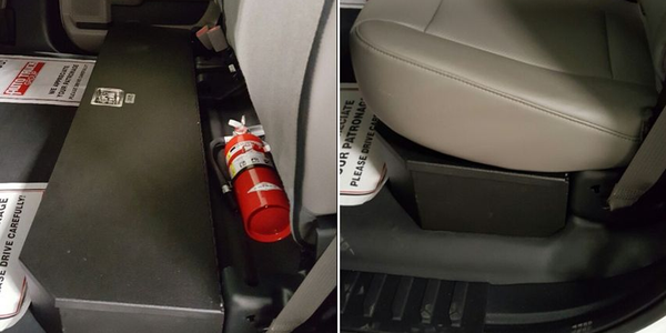 Under-Seat Weapon Box for Trucks