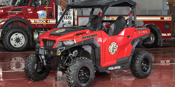 The Polaris Ranger side-by-side utility vehicles can be used by fire and rescue personnel.