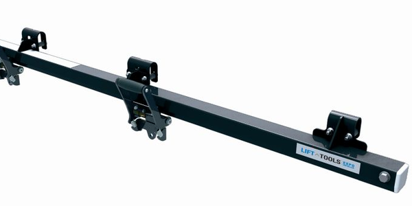 The Expo Installer features a sliding track design and two trolleys that can carry a combined...