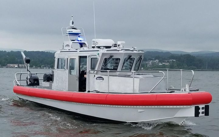 This patrol boat is 31 feet long with an 11-foot beam.