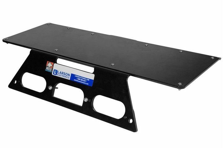 The MMP-FSD-2017-LED mounting plate can be used for a variety of magnetic mount lights.  - Photo courtesy of Larson Electronics