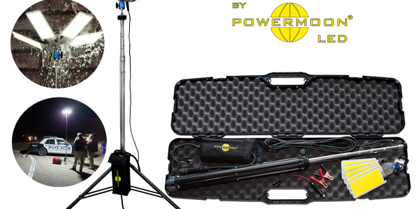 The Pocketmoon comes with a stainless steel tripod with total height of 11.5 feet.