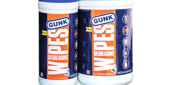 Gunk Degreasing Wipes are sold in 30-count packs and 75-count packs.