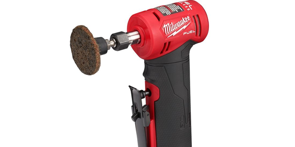 The M12 Right Angle Die Grinder is cordless and compact enough to fit in tight spaces.