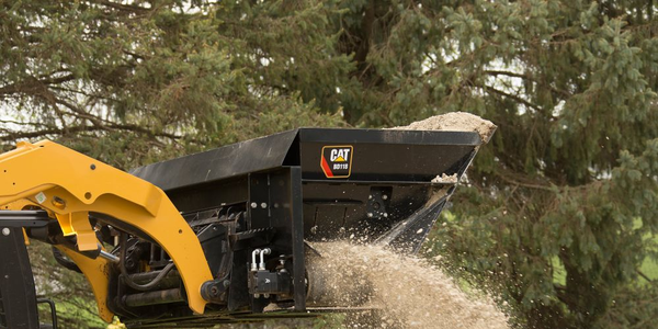 Caterpillar's Side Discharge Buckets can be used in agriculture, construction, landscaping, road...
