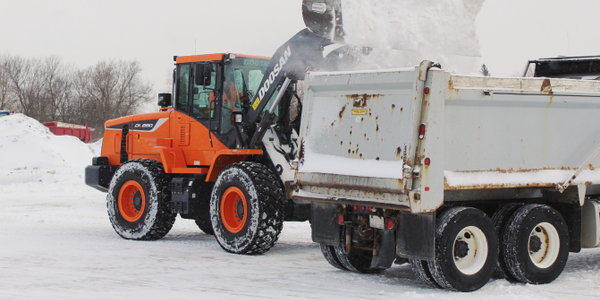 Doosan Wheel Loader Buckets Ideal for Snow Operations