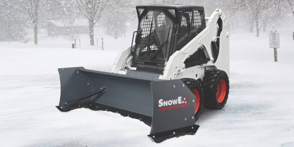 SnowEx's Power Pusher TE snow pushers are available in 8- and 10-foot-wide models.