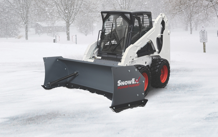 SnowEx's Power Pusher TE snow pushers are available in 8- and 10-foot-wide models.  - Photo courtesy of SnowEx