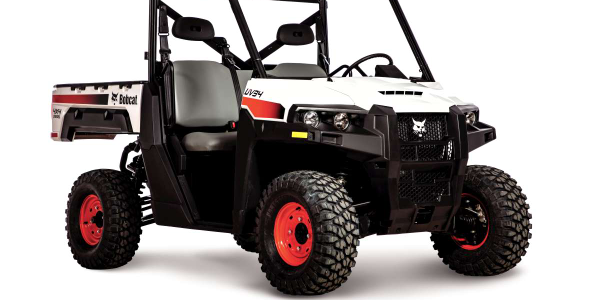 Bobcat's UV34 utility vehicle offers seating for an operator and two passengers.