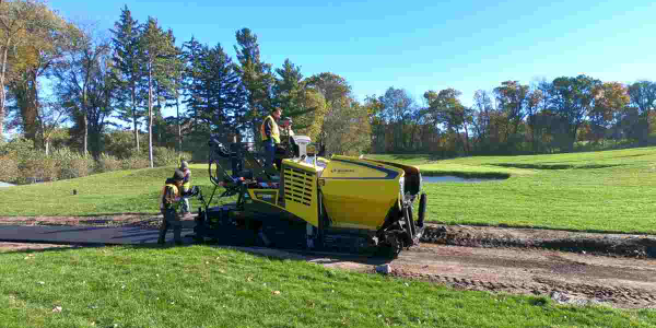 The Bomag BF 300 C-2 paver offers hydraulically variable paving widths from 5.6 feet to 11.2 feet.