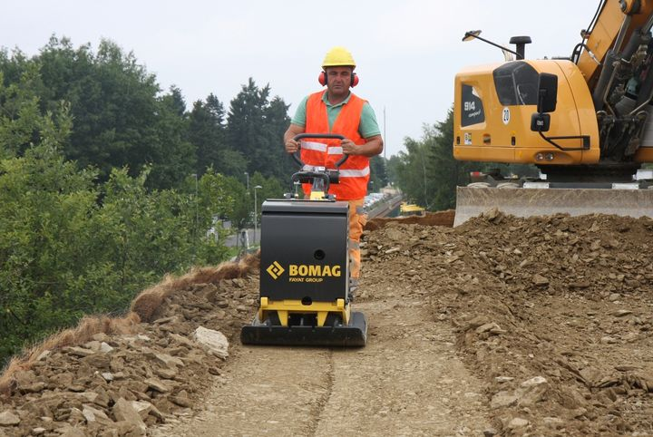 The BomagBPR 60/65 features a high-wear-resistant base plate for long service life.  - Photo courtesy of Bomag