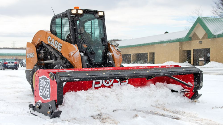 The rubber-edged SK-R collection for skid steers offers quieter plowing operation.