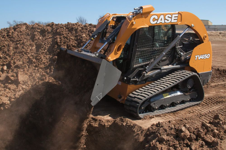 Case's TV450 compact track loader meets Tier 4 Final emissions standards with a selective catalytic reduction (SCR) system.