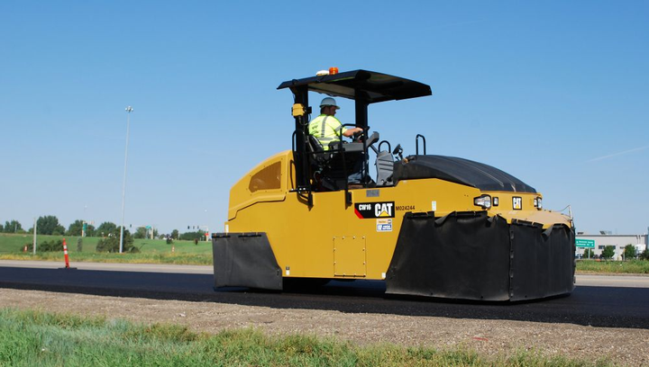 Cat Pneumatic Compactor Features Two Wheel Configuration
