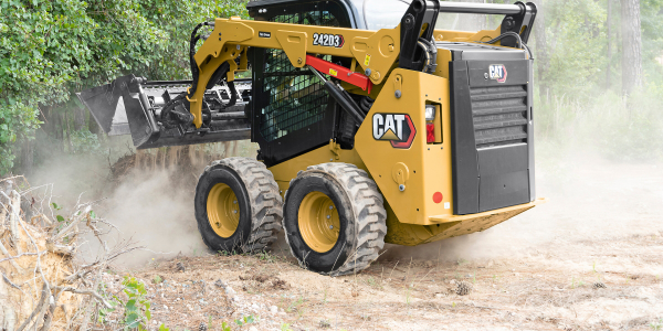 The 242D3 skid steer loader delivers up to 74.3 hp.