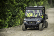 The Cushman Hauler 4x4 is available as a three-person vehicle, and the Hauler 4x4 Crew...