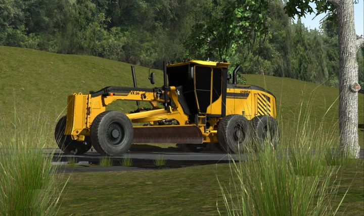 The update for the Motor Grader Training Pack implements new earthmoving technology that allows trainees to feel the dirt in front of the blade.