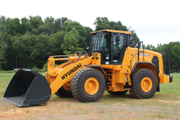 Hyundai Construction Equipment Americas' new guarding package includes hinged steel front and...