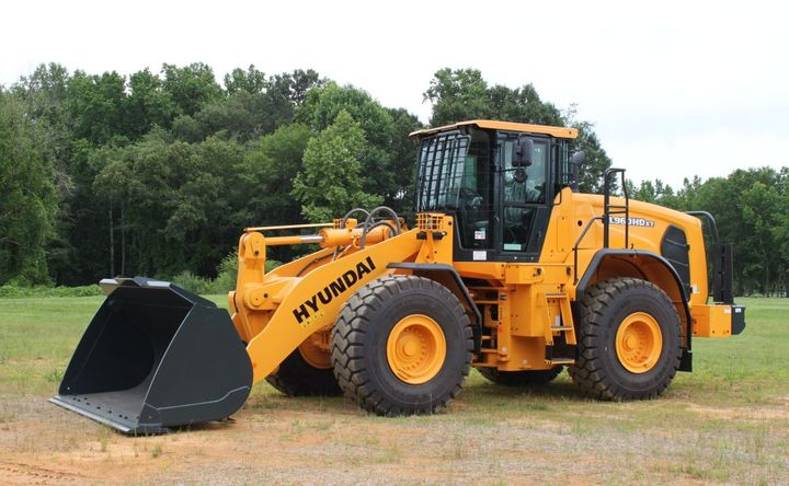 Hyundai Construction Equipment Americas' new guarding package includes hinged steel front and rear cabin guards that protect glass from damage.