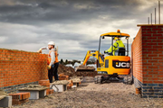 JCB's compact excavators have an all-steel bodyfor maximum impact protection.