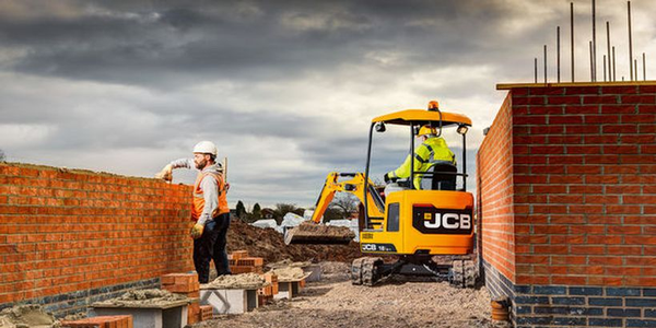JCB's compact excavators have an all-steel body for maximum impact protection.