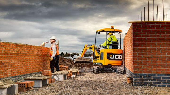 JCB's compact excavators have an all-steel bodyfor maximum impact protection.  - Photo courtesy of JCB
