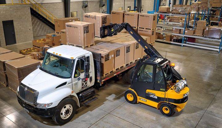 The JCBTLT 25 LPG has a maximum lift capacity of 5,500 lbs.  - Photo courtesy of JCB