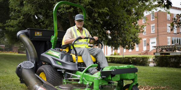 The three-bag MCS provides landscapers with an efficient way to collect material clippings while...
