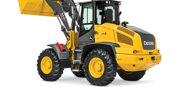 The 344L compact wheel loader features 103 hp of maximum peak power.