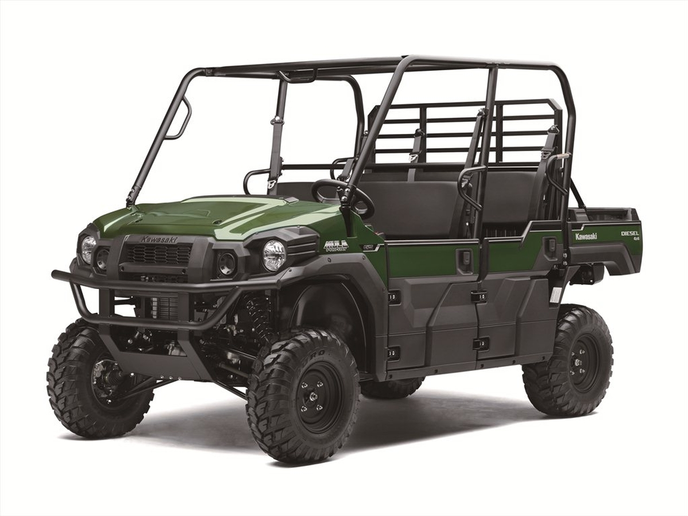 The Mule Pro-DXTfeatures can seat up to six passengers.  - Photo courtesy of Kawasaki