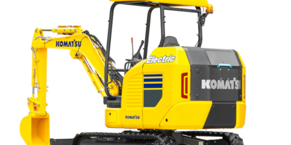 Komatsu showed off its electric mini excavator at the bauma trade fair for construction...