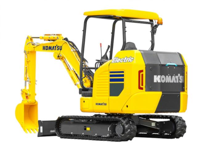 Komatsu showed off its electric miniexcavator at the baumatrade fair for construction equipment in April.  - Photo courtesy of Komatsu