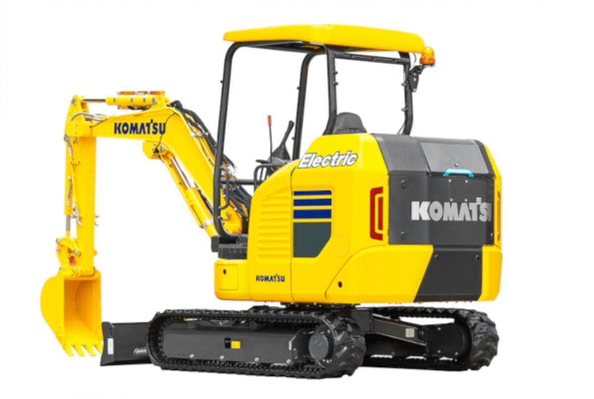 Komatsu Develops Electric Mini Excavator
