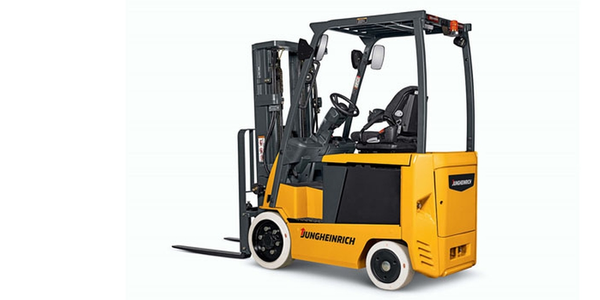 The Jungheinrich EFG electric counterbalanced lift truck series has 500-hour service intervals.