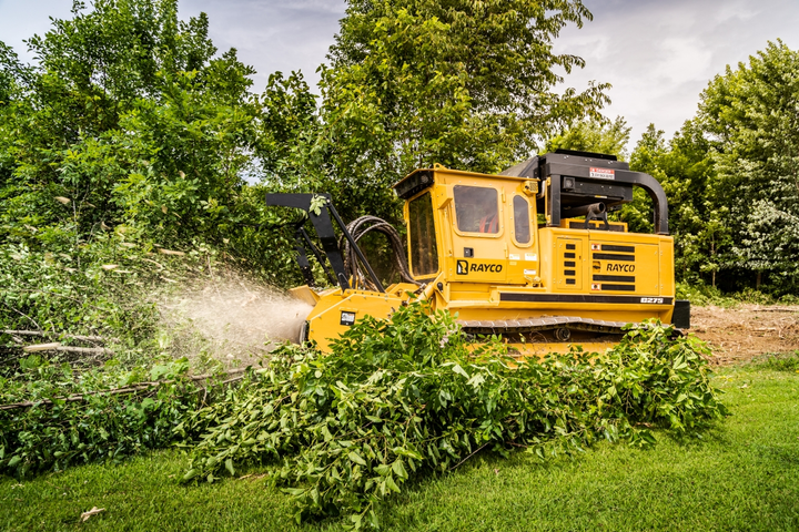 The Rayco C275 Forestry Mulcher delivers 275 hp in a compact, low-ground-pressure package.  - Photo courtesy of Morbark