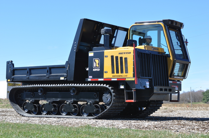 The RCT150 Crawler Truck comes with a 10-foot x 7.8-foot dump bed with removable sides or as a cab and chassis.