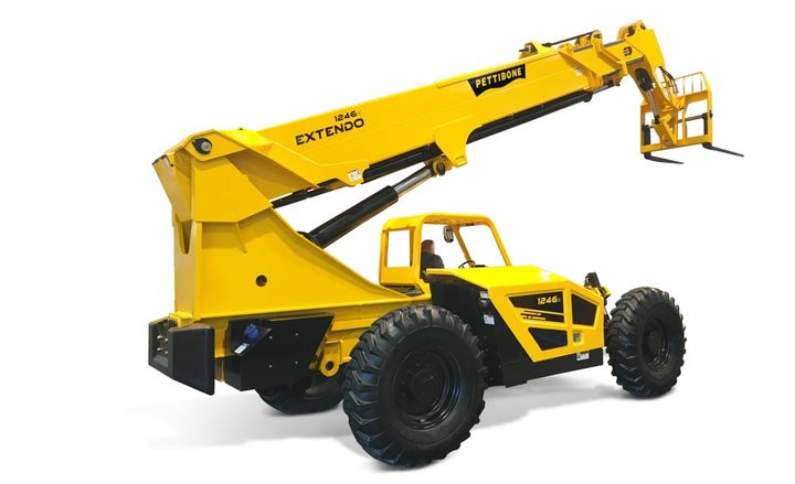 The 1246X offers a maximum lift height of 46 feet, 6 inches.  - Photo courtesy of Pettibone
