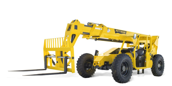 The Pettibone 944X telehandler offers maximum lift capacity of 9,000 lbs.