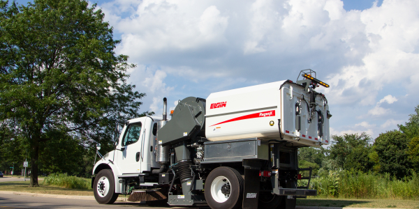 The RegenX's 50-degree dump angle makes it easy to clean.