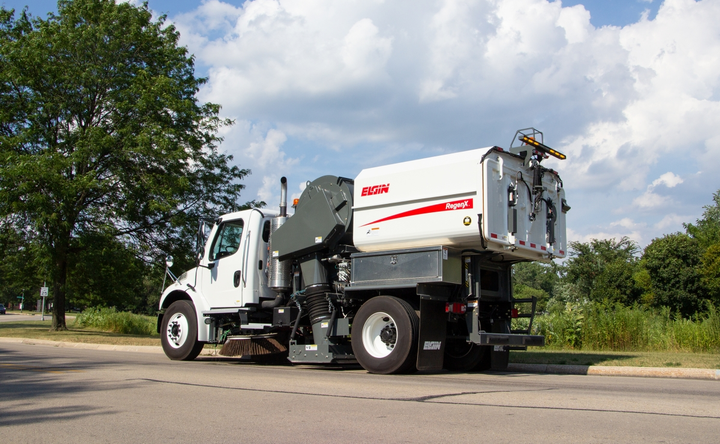 The RegenX's 50-degree dump angle makes it easy to clean.  - Photo courtesy of Elgin