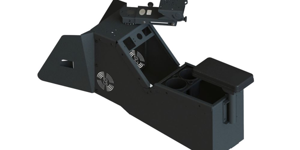 Gamber-Johnson Console Box Designed for 2020 Ford PIU
