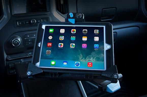 The Universal Tablet Cradle is designed to fit a wide range of popular tablet models.  - Photo courtesy of Gamber Johnson