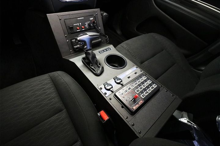 The Contour Console for the 2019+ Dodge Durango PPV is based on Jotto's existing console for the Durango SSV.  - Photo courtesy of Jotto Desk