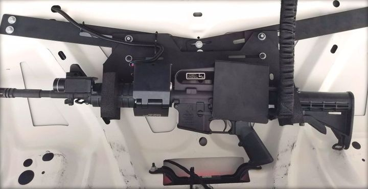 Big Sky Racks' ELS Systems are designed to accommodate the most commonly used law enforcement weapons.  - Photo courtesy of Big Sky Racks