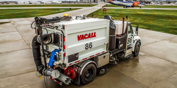 The Vacall AllSweep has a sweeping pathwider than the width of the chassis.