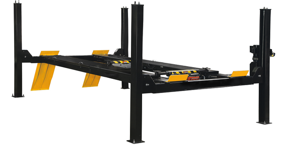 The 4-Post Lift System is designed to accommodate a wide variety of vehicles.
